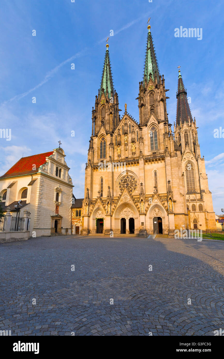 Cathedral in the Olomouc castle, Czech Republic. - Stock Image