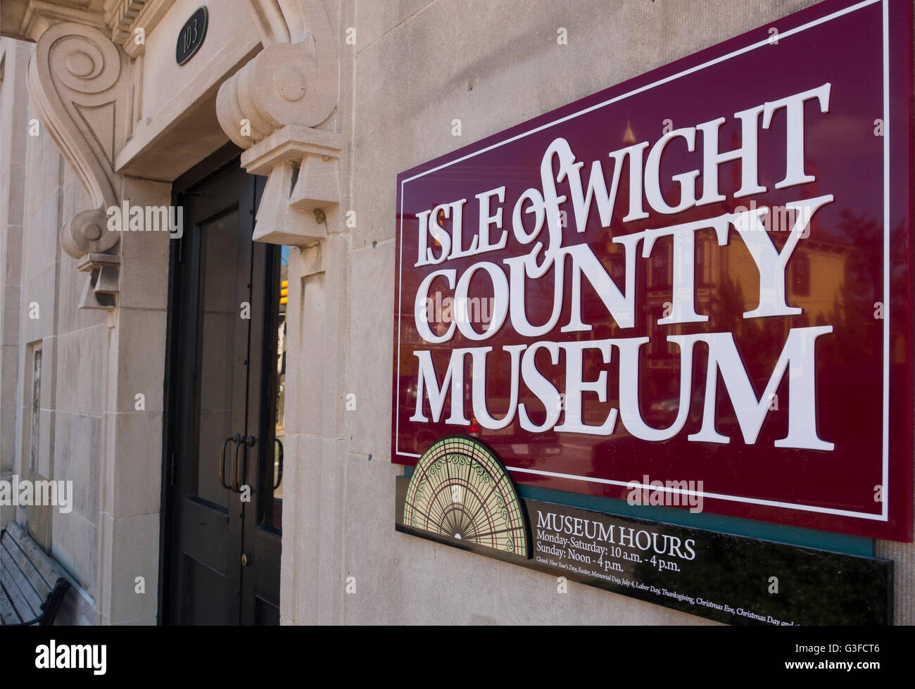 Isle of Wight county museum in Smithfield Virginia - Stock Image