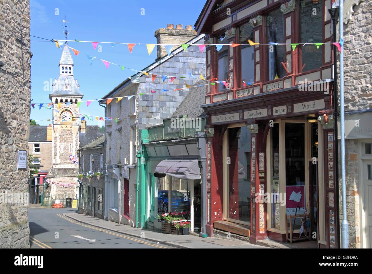 Richard Booth bookshop, Lion Street, Hay-on-Wye, Powys, Wales, Great Britain, United Kingdom, UK, Europe - Stock Image