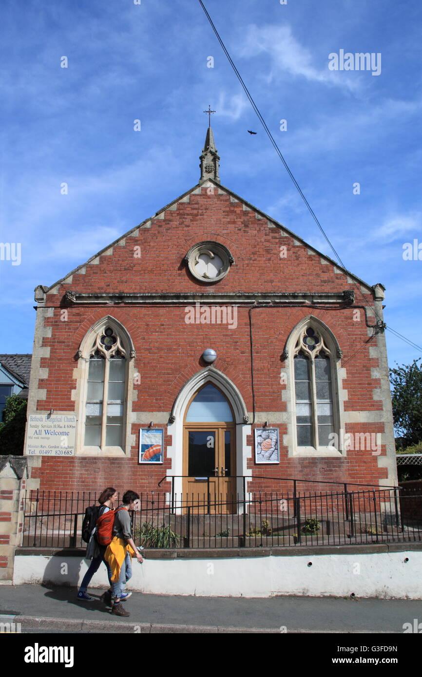 Bethesda Evangelical Church, Oxford Road, Hay-on-Wye, Powys, Wales, Great Britain, United Kingdom, UK, Europe - Stock Image