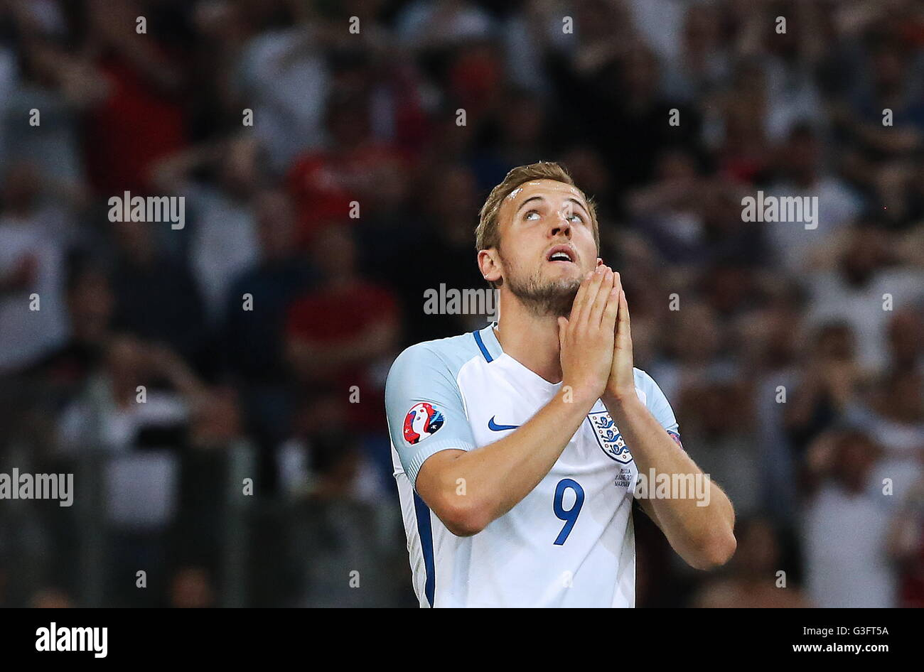 MARSEILLE, FRANCE - JUNE 11, 2016: England's Harry Kane in the 2016 UEFA European Championship Group B football - Stock Image
