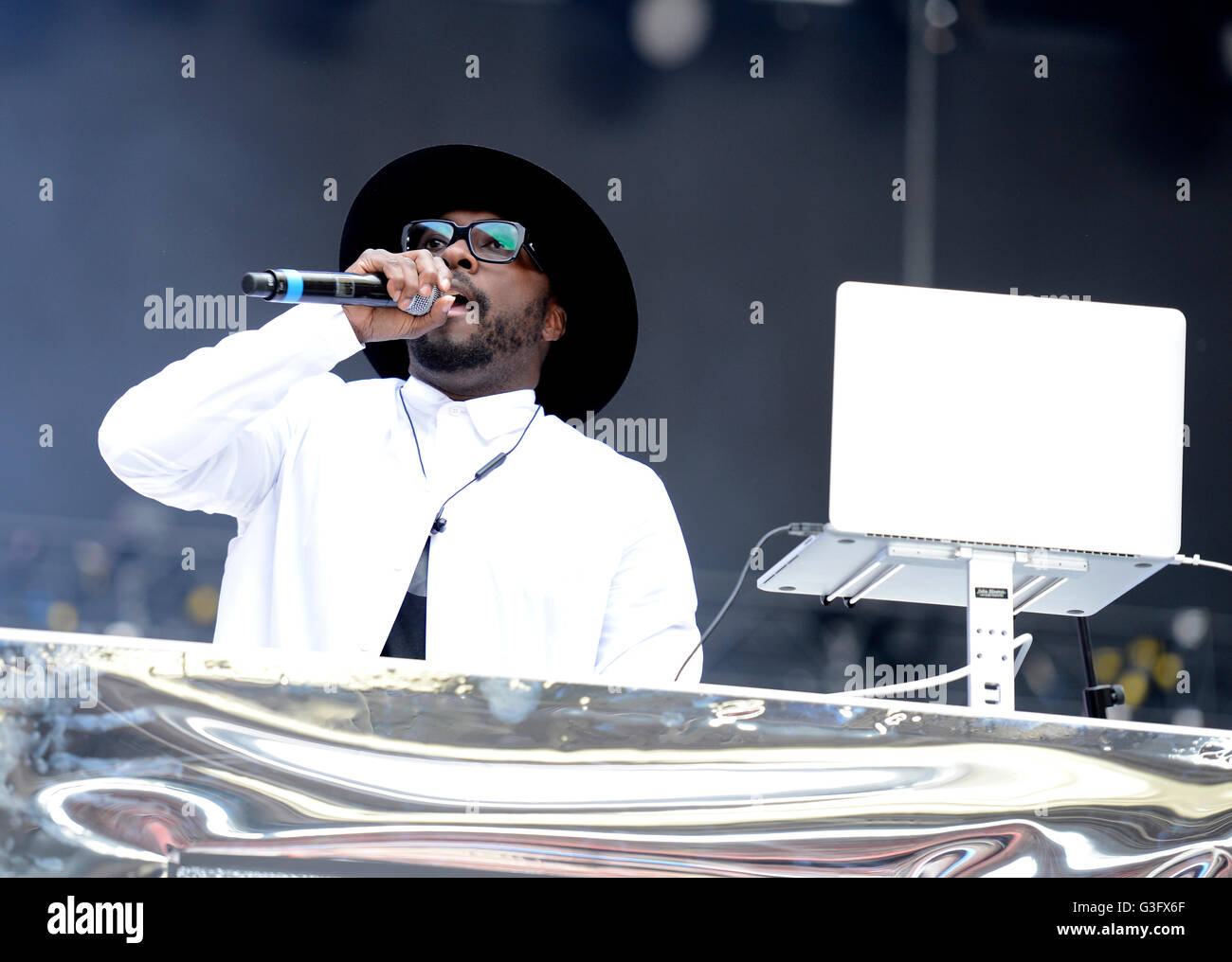 Will.I.am performing at Capital FM's Summertime Ball with Vodafone held at Wembley Stadium, London. PRESS ASSOCIATION - Stock Image