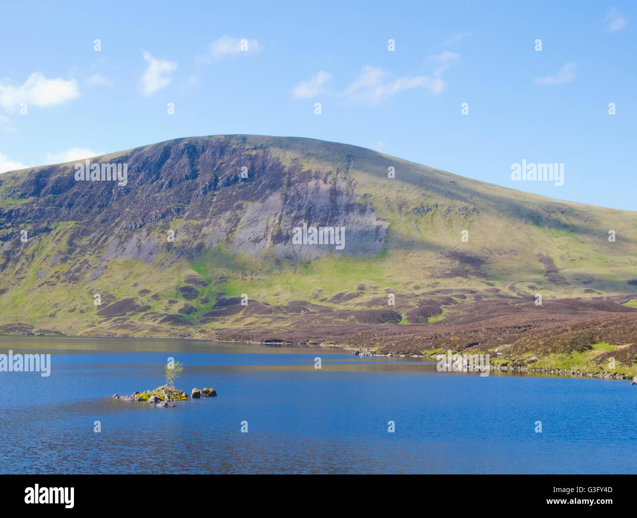 Loch Skeen or Skene with Lochcraig head Mountain, Dumfries and Galloway, Scotland, UK - Stock Image