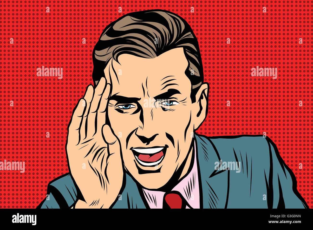 Retro businessman appeal to you - Stock Vector