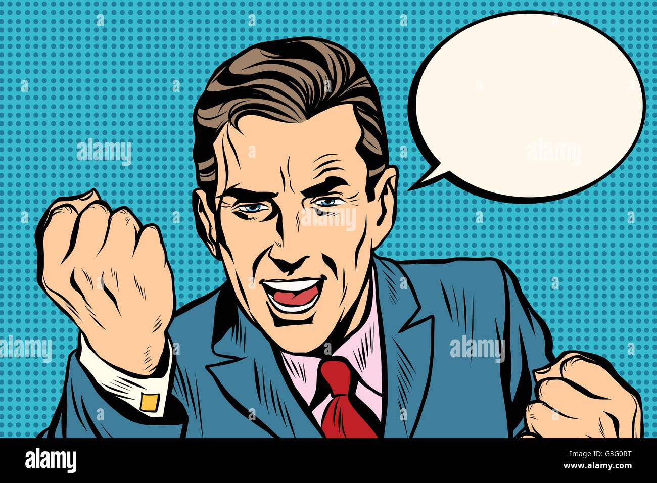 charismatic retro speaker businessman - Stock Vector