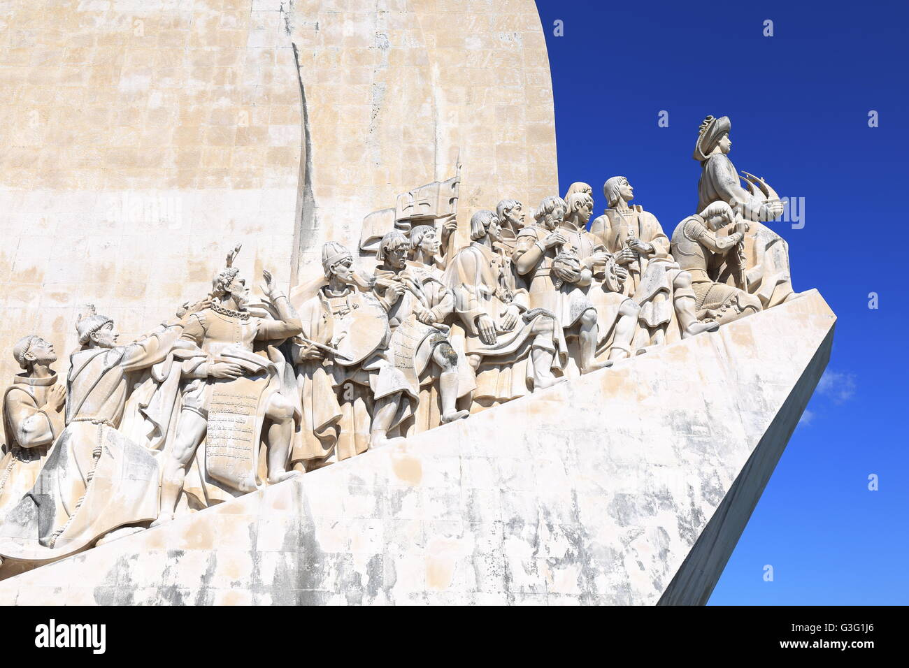 Discoveries Monument on the banks of Portugal's River Tagus at Belem, Lisbon. - Stock Image
