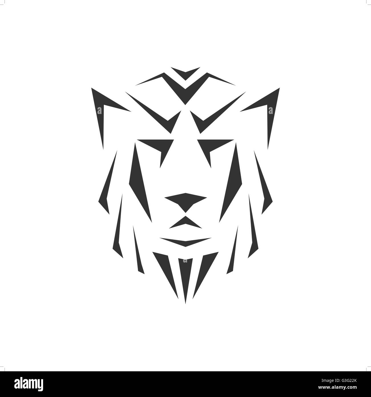 Abstract Triangle Drawing Wolf Head Vector Illustration