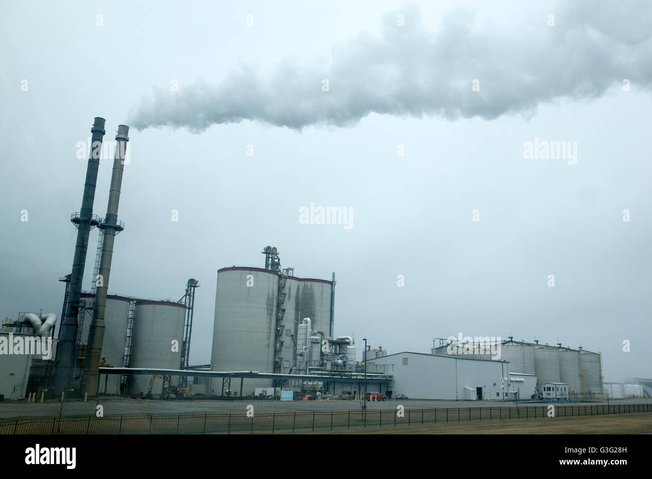 Bio-fuel ethanol plant, Heartland Corn Products. Winthrop Minnesota MN USA - Stock Image