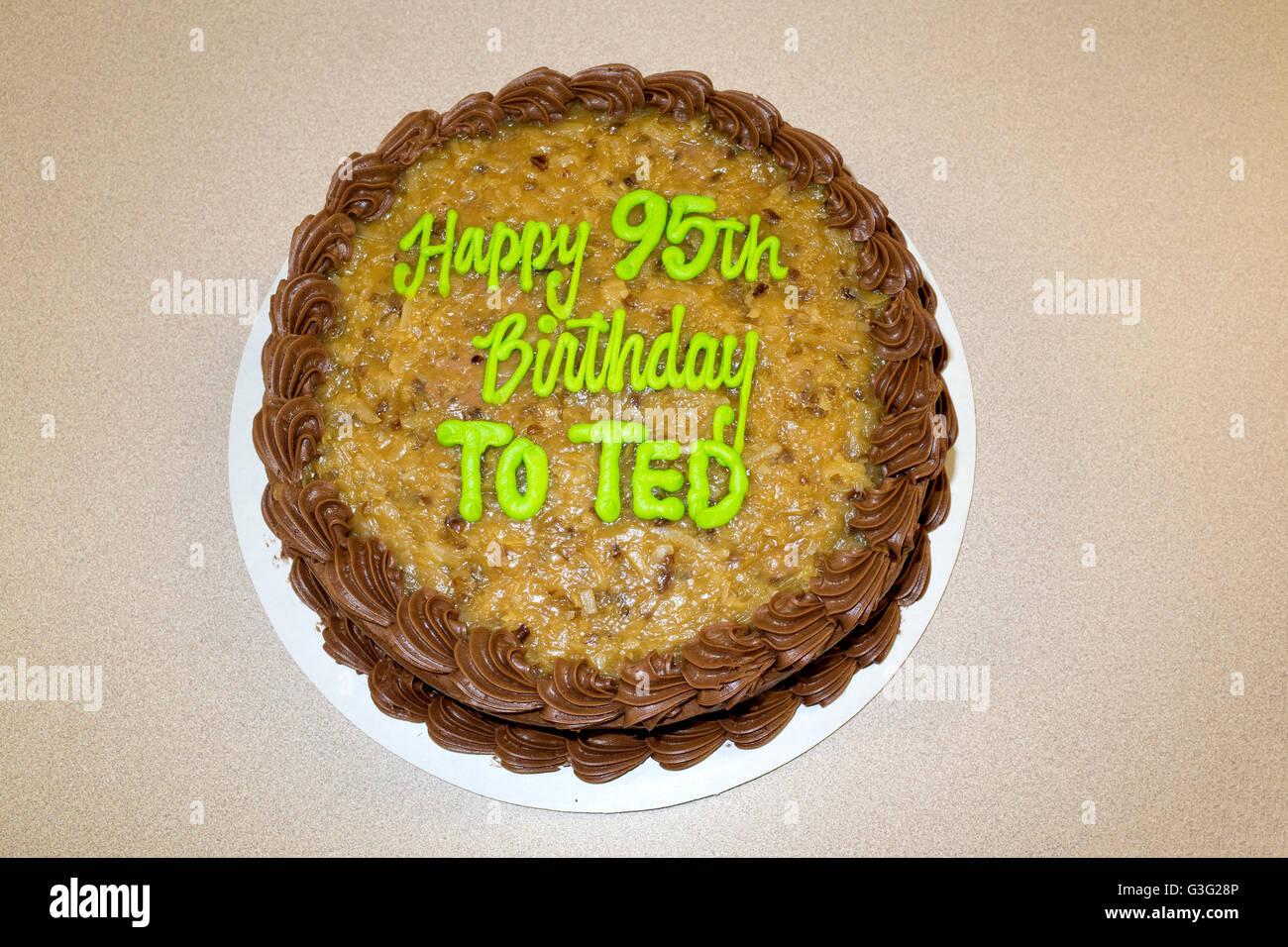 Teds 95th Happy Birthday Cake Redwood Falls Minnesota MN USA