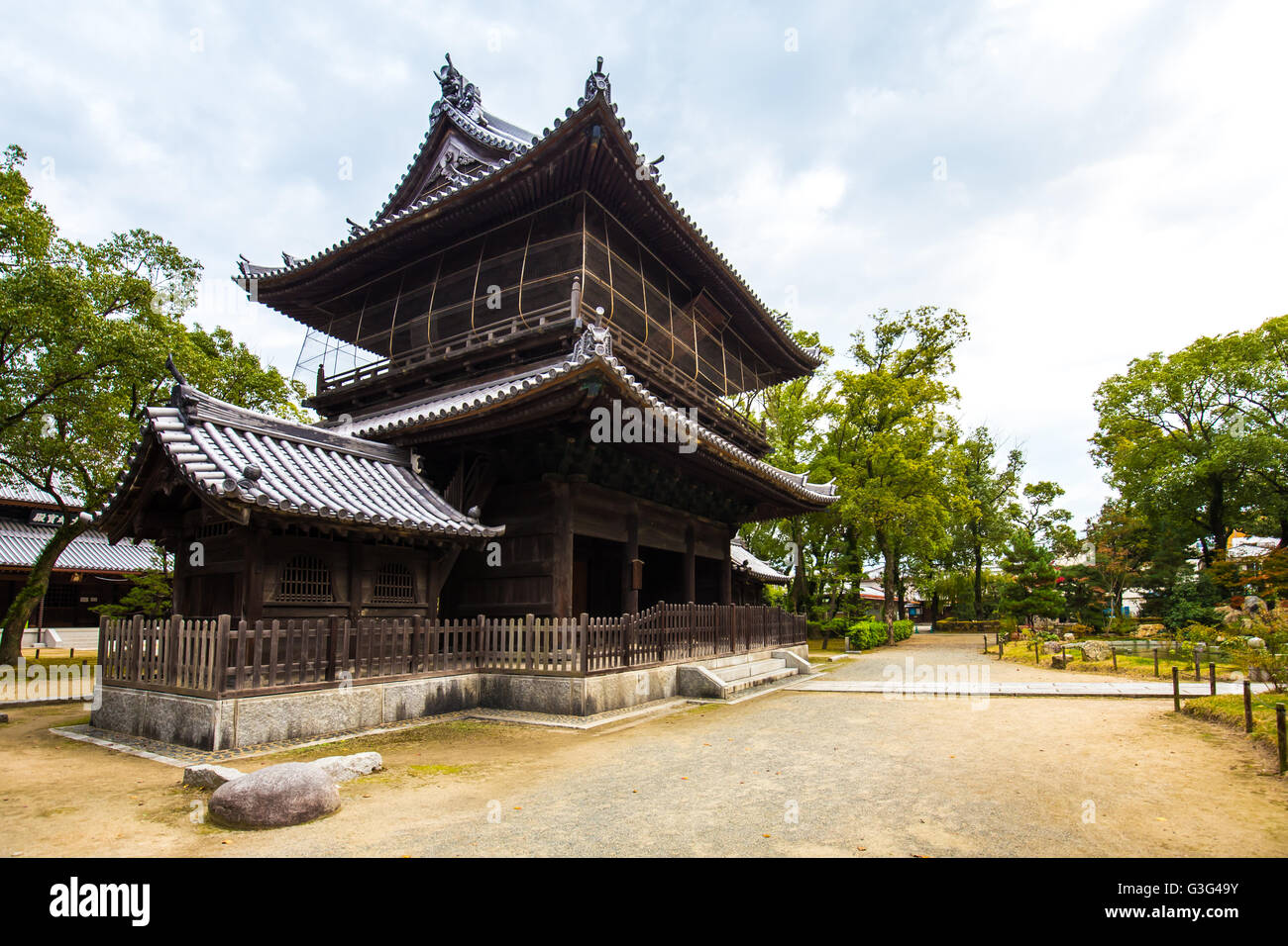 Hakata, Japan - November 28, 2014: Shofukuji has the distinction of being the first Zen temple constructed in Japan. - Stock Image