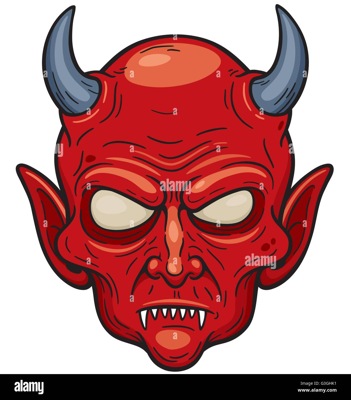 Vector illustration of Devil face - Stock Vector