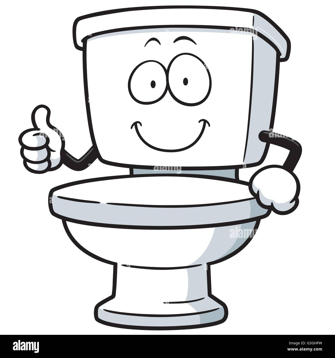 Vector Illustration Of Cartoon Toilet Stock Vector Art