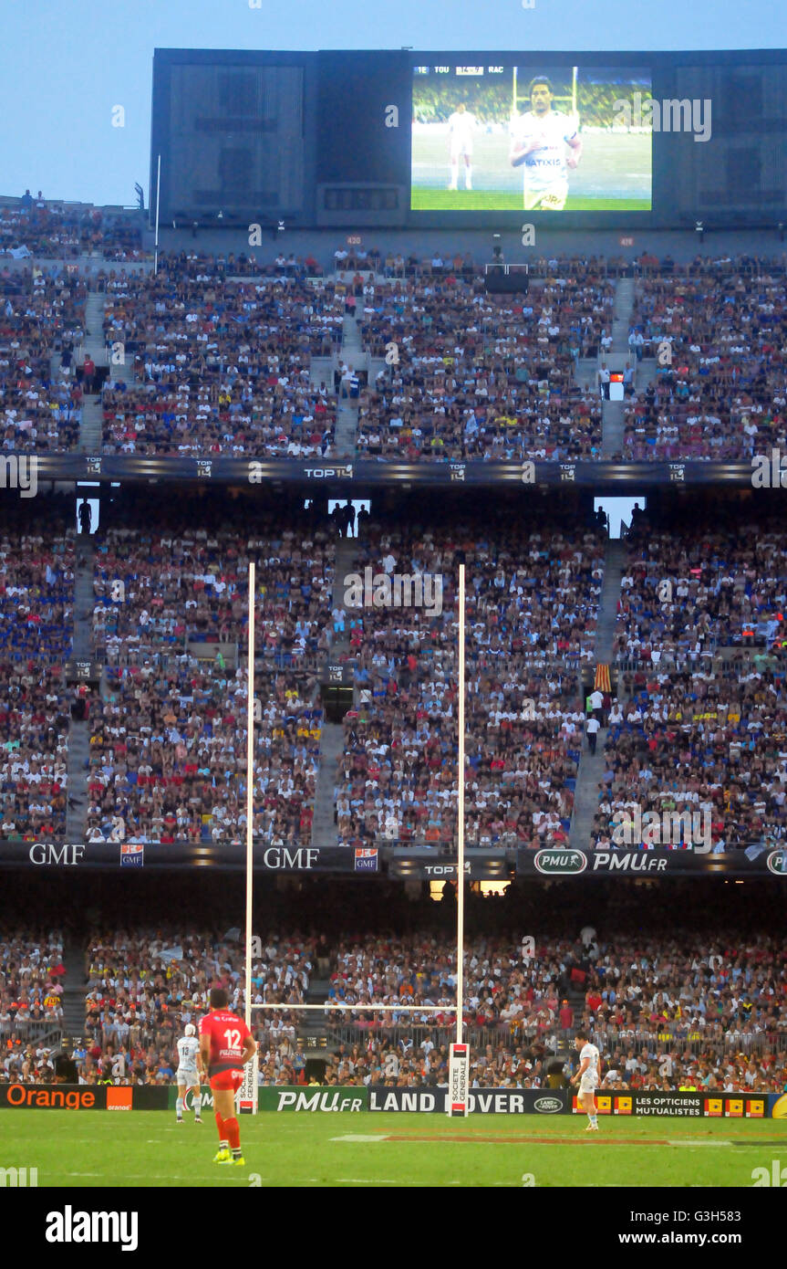 Barcelona, Spain. 24th June, 2016. Partial view of the FC Barcelona stadium Camp Nou during the first ever held - Stock Image
