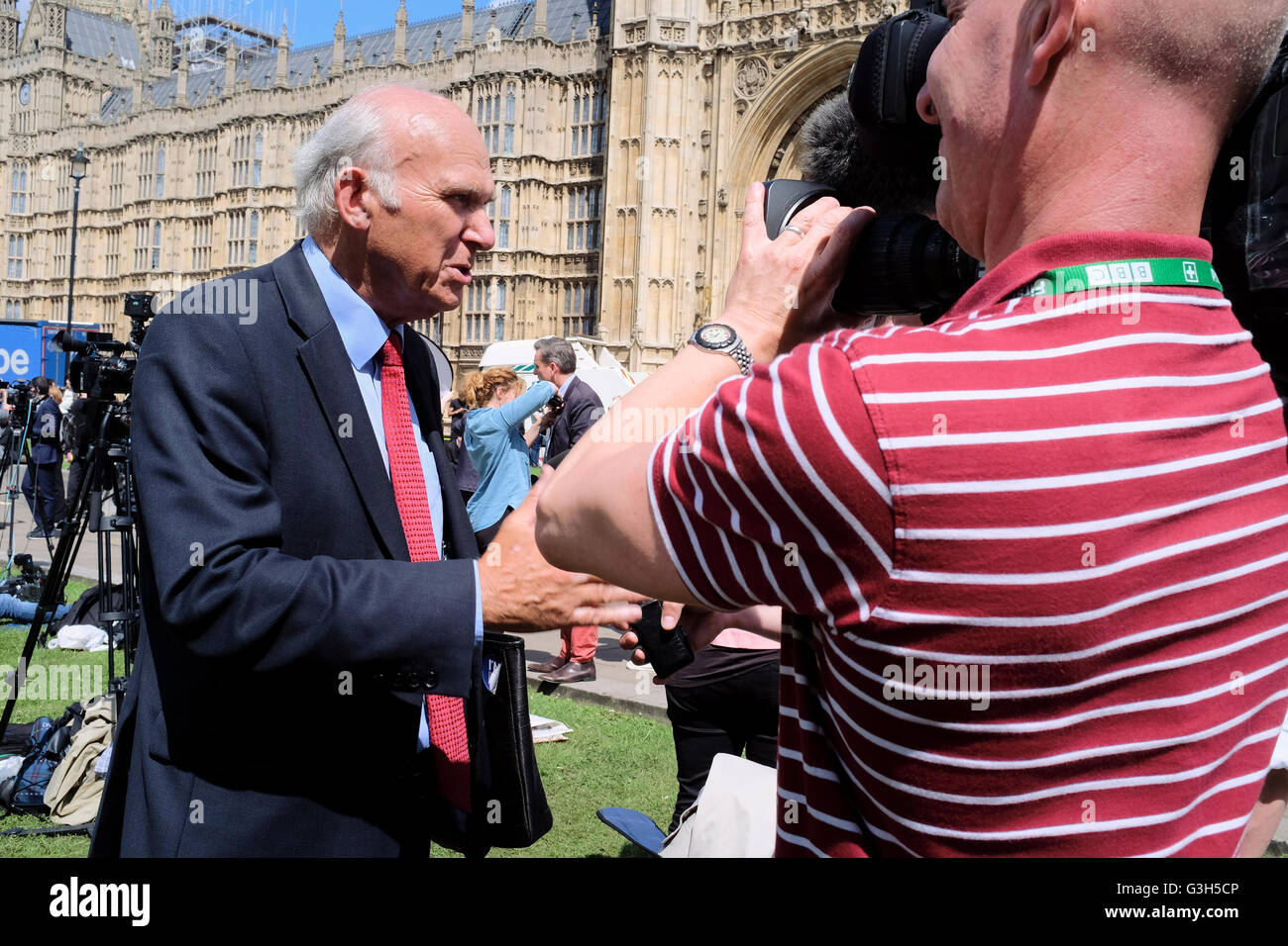 London, UK. 24 June 2016. Vince Cable, Liberal Democrat MP and Secretary of State for Business, Innovation and Skills - Stock Image