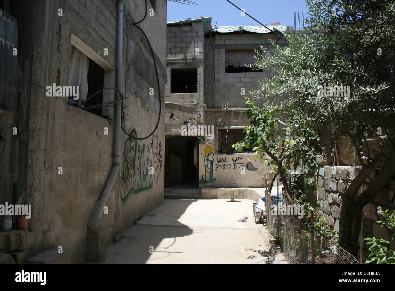 Gasa, Palestinian Territories. 5th June, 2016. The house of family al-Cheisi in Gasa, Palestinian Territories, 5 - Stock Image