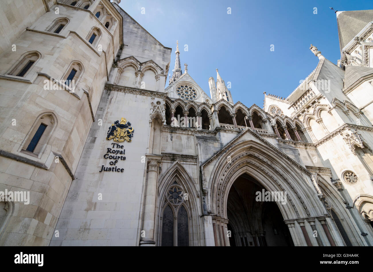 The Royal Courts of Justice, London, UK - Stock Image