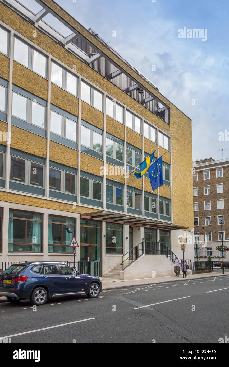 Embassy of Sweden in London - Stock Image