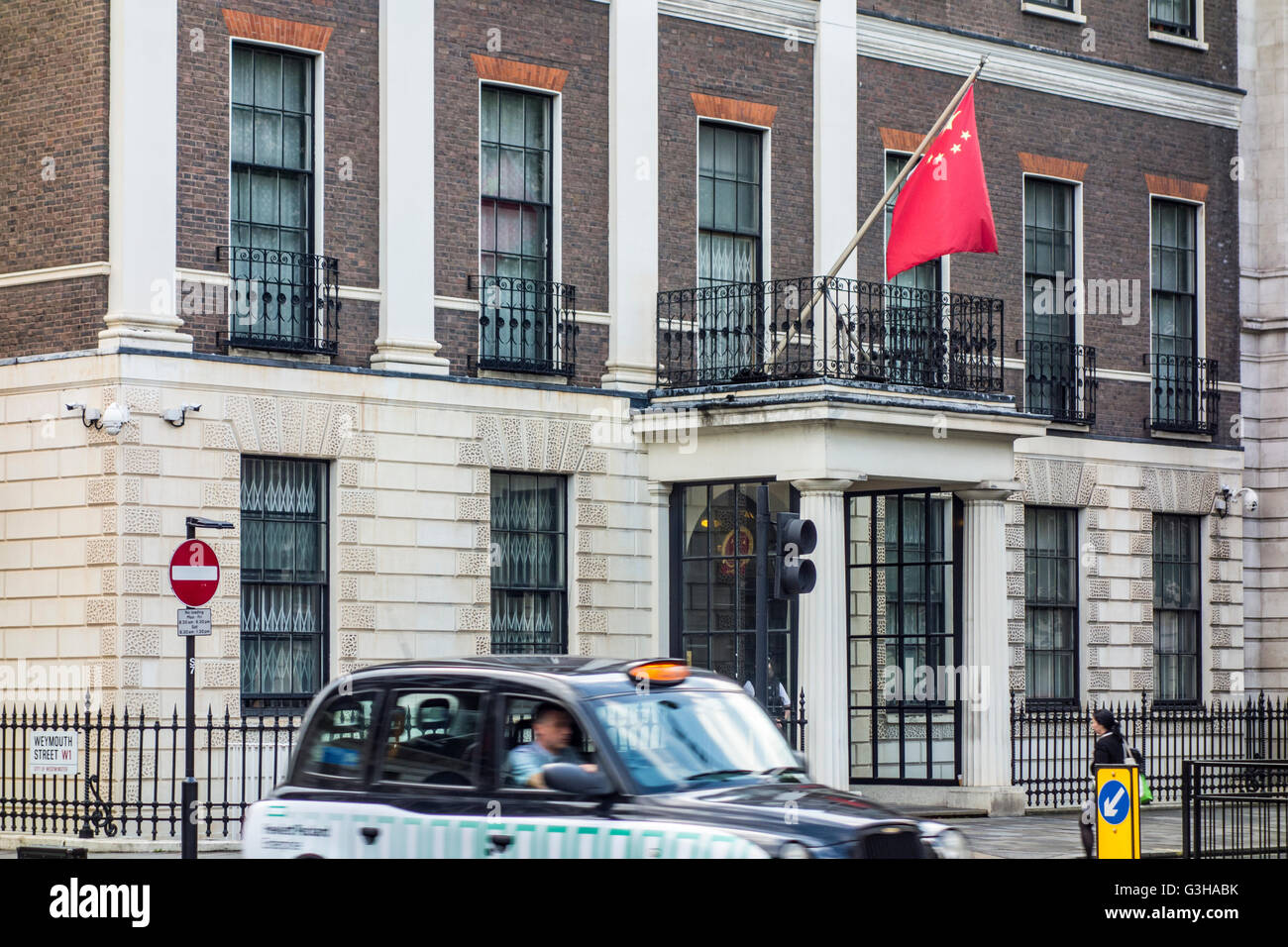 Embassy of the People's Republic of China in the United Kingdom of Great Britain and Northern Ireland - Stock Image