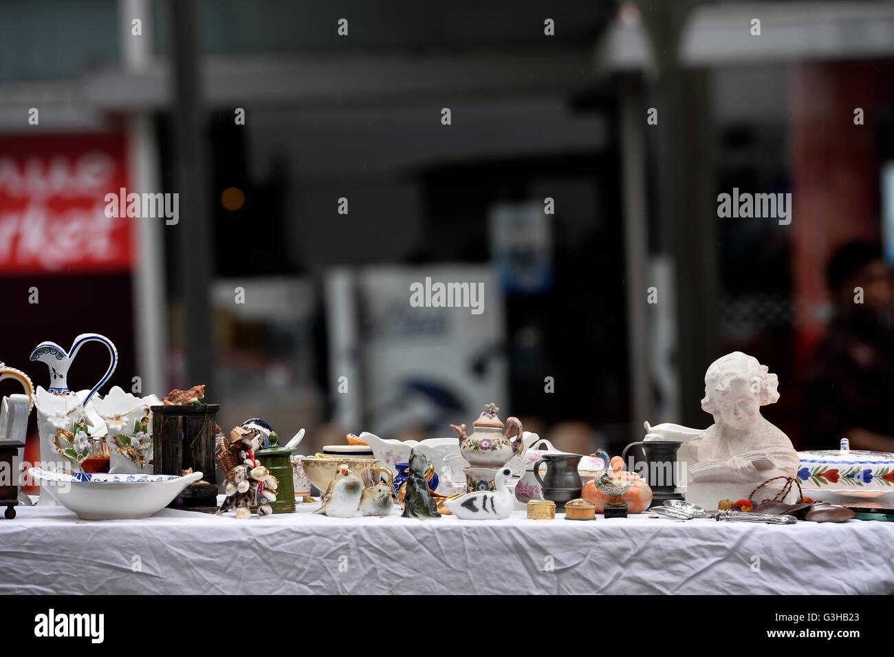 Car-boot sale in Paris 18° - Stock Image