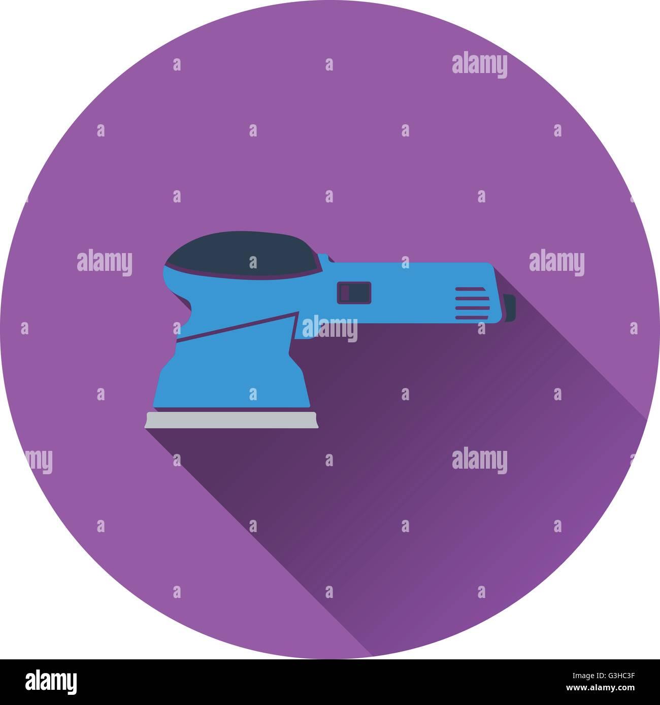 Icon of grinder. Flat design. Vector illustration. - Stock Vector