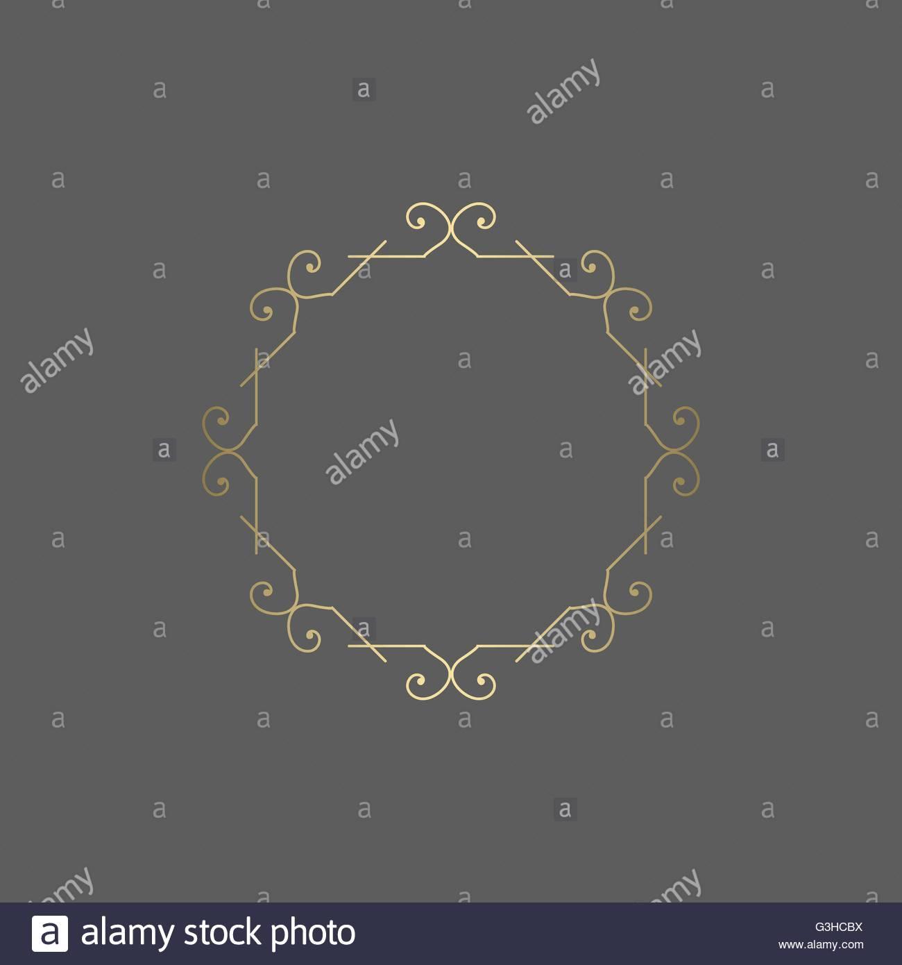 Ornate golden vector ornament for decoration. Stock Vector