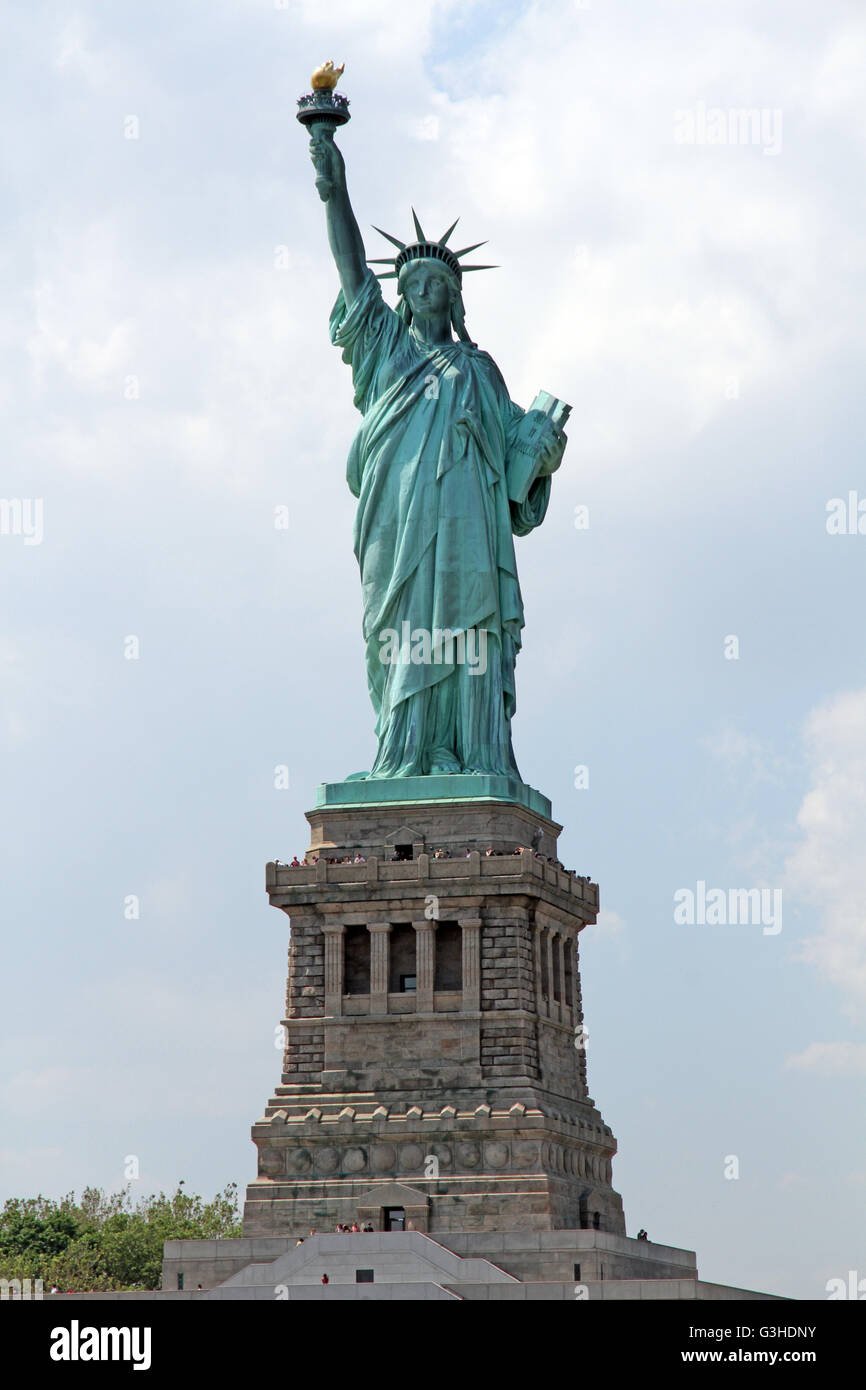 The Statue of Liberty in New York City, United States of America - Stock Image
