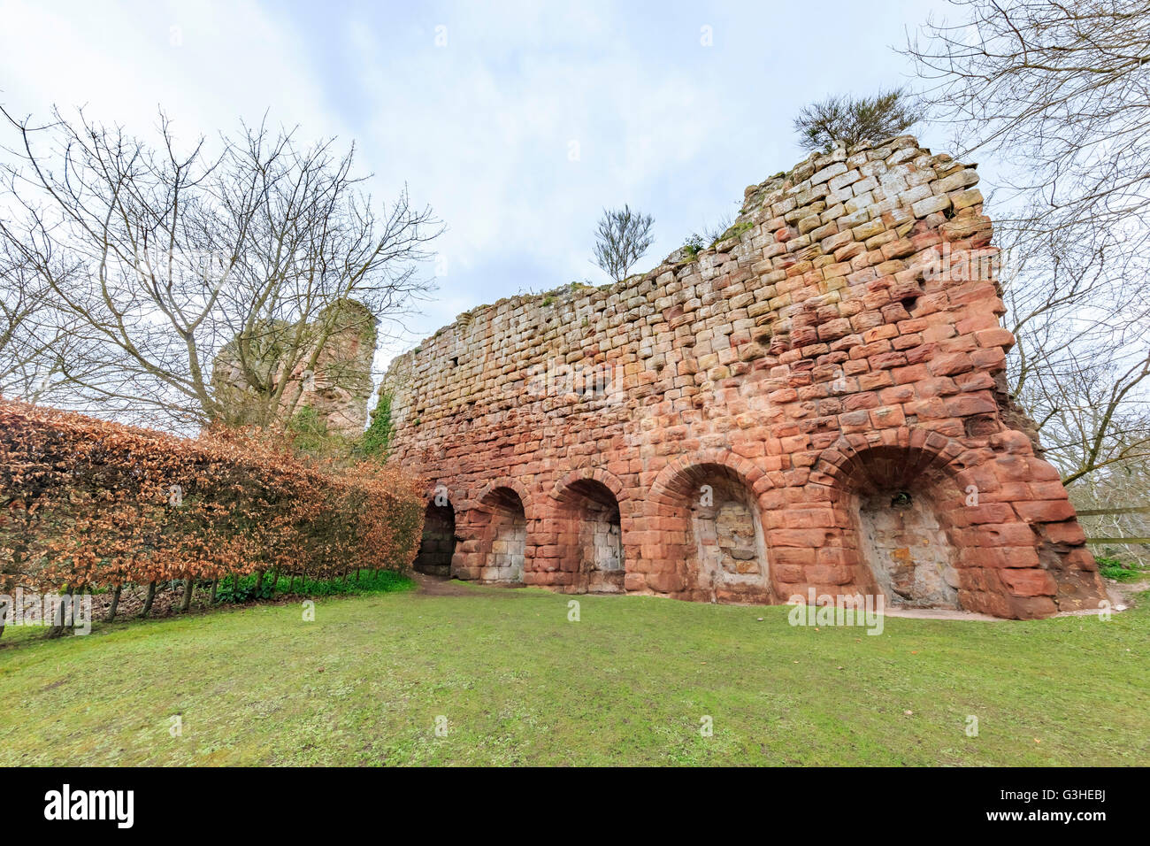 The historical Rosslyn Castle at Edinburgh, Scotland - Stock Image