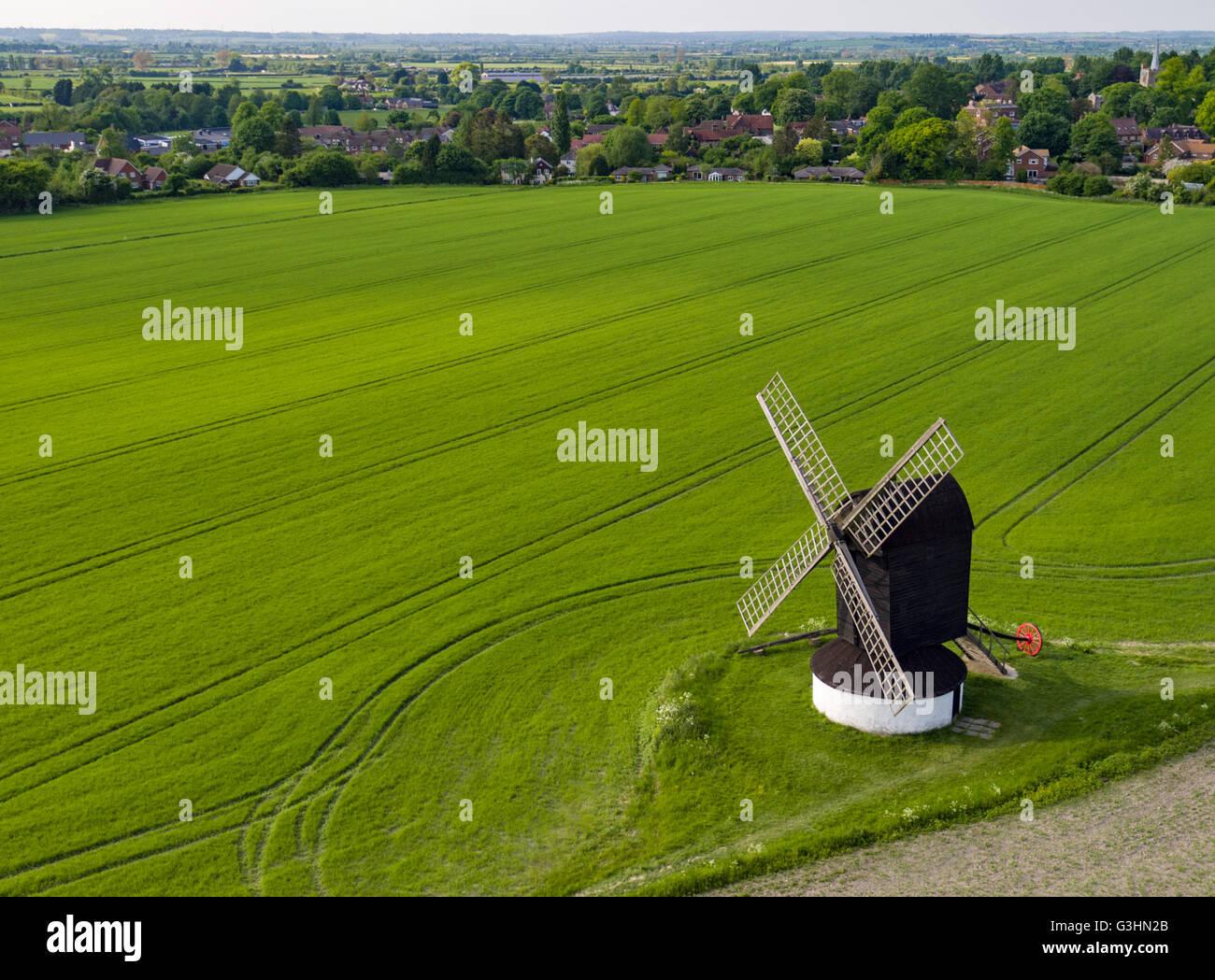 Pitstone Windmill in Buckinghamshire - Stock Image