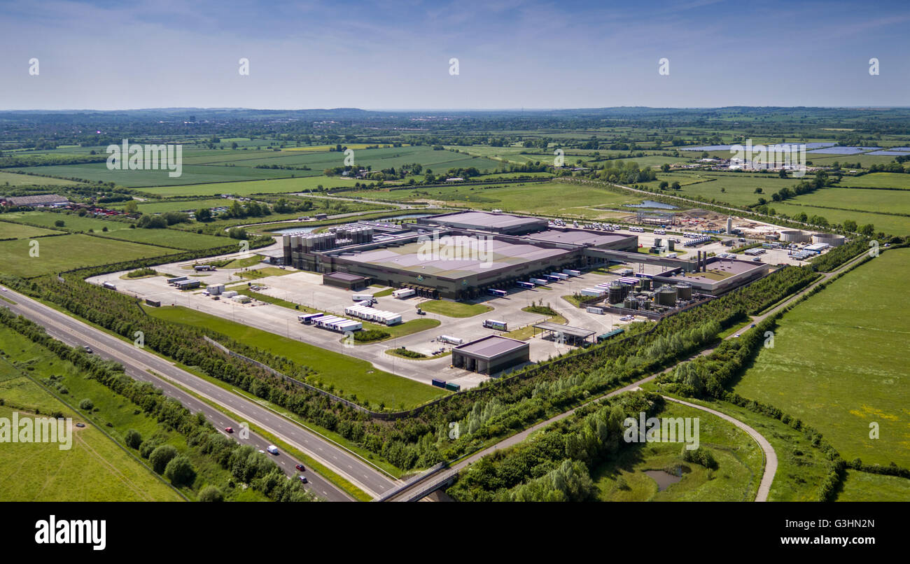 Arla Dairy Products industrial complex at Aston Clinton, Aylesbury in Buckinghamshire - Stock Image