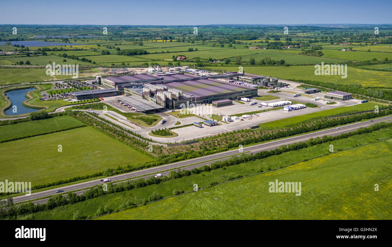Arla Dairy Products industrial complex at Aston Clinton, Aylesbury in Buckinghamshire Stock Photo