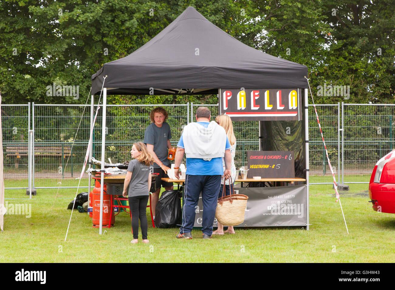 Nosh food stall at the Alresford music festival 2016, Hampshire, England, United Kingdom. - Stock Image