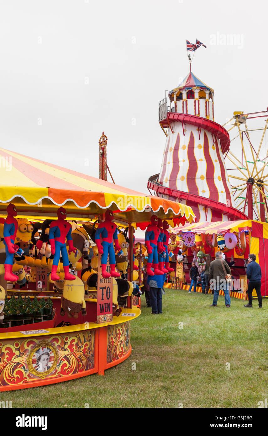 Vintage Funfair at The Royal Bath & West Showground - Stock Image