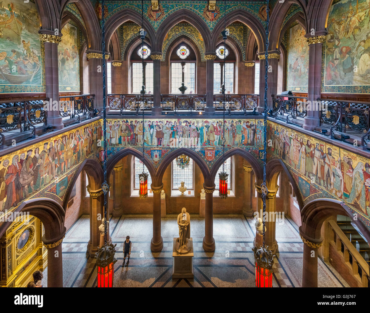 entrance hall at the scottish national portrait gallery  edinburgh stock photo  105506975