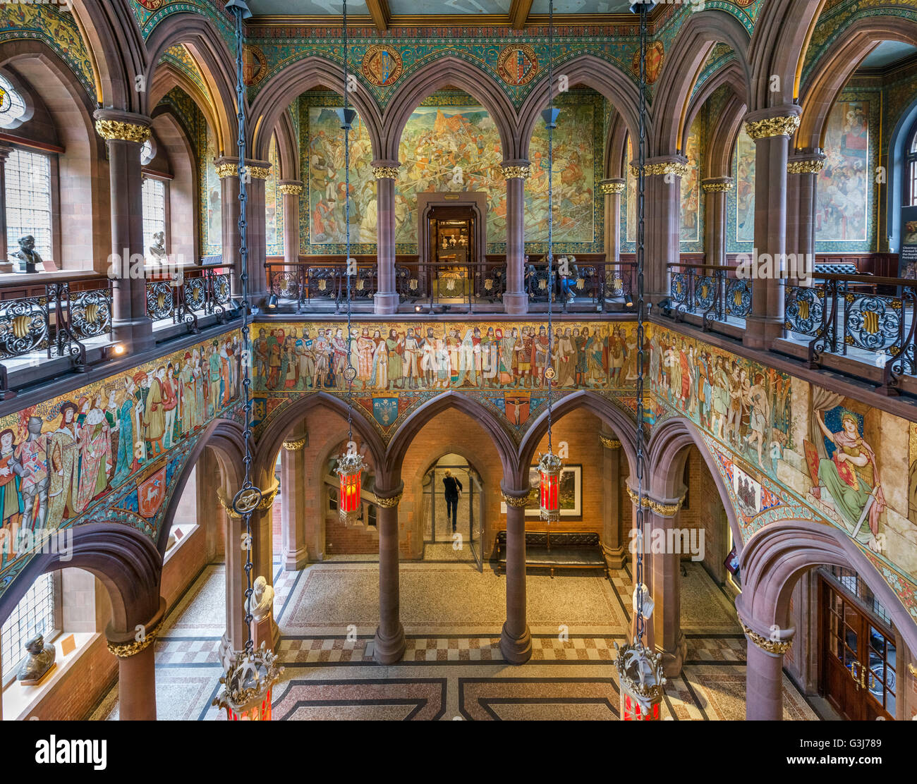 entrance hall at the scottish national portrait gallery  edinburgh stock photo  105507033