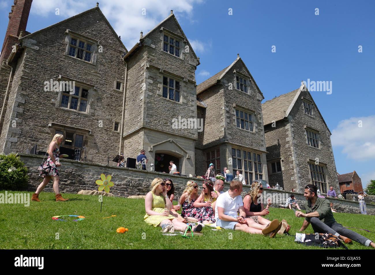 Garden Party Wedding Reception At Wilderhope Manor 16th Century