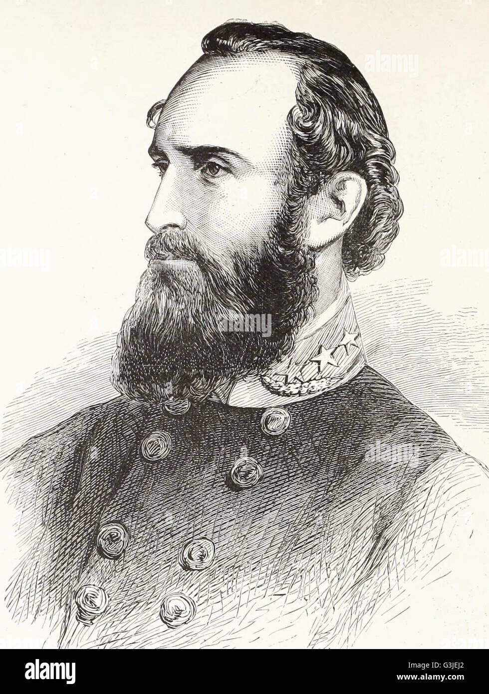 General Thomas J Stonewall Jackson - USA Civil War - Stock Image