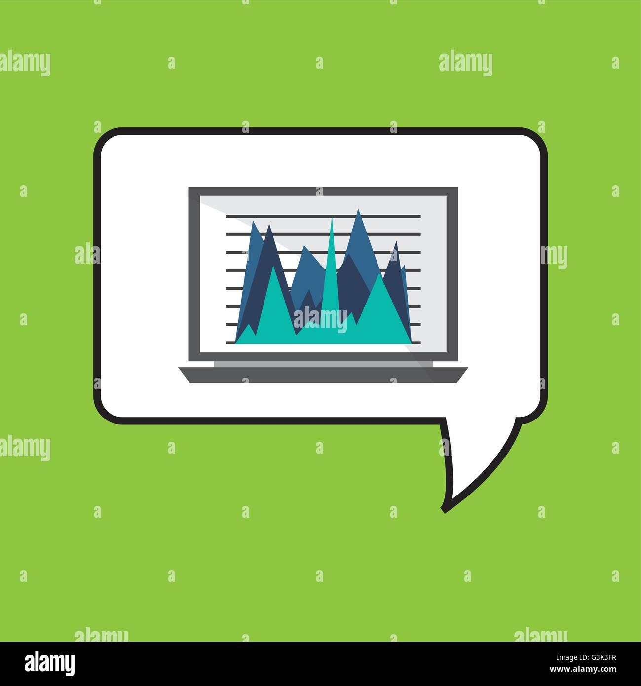 Business design.Communication icon. Colorfull illustration, vect - Stock Image