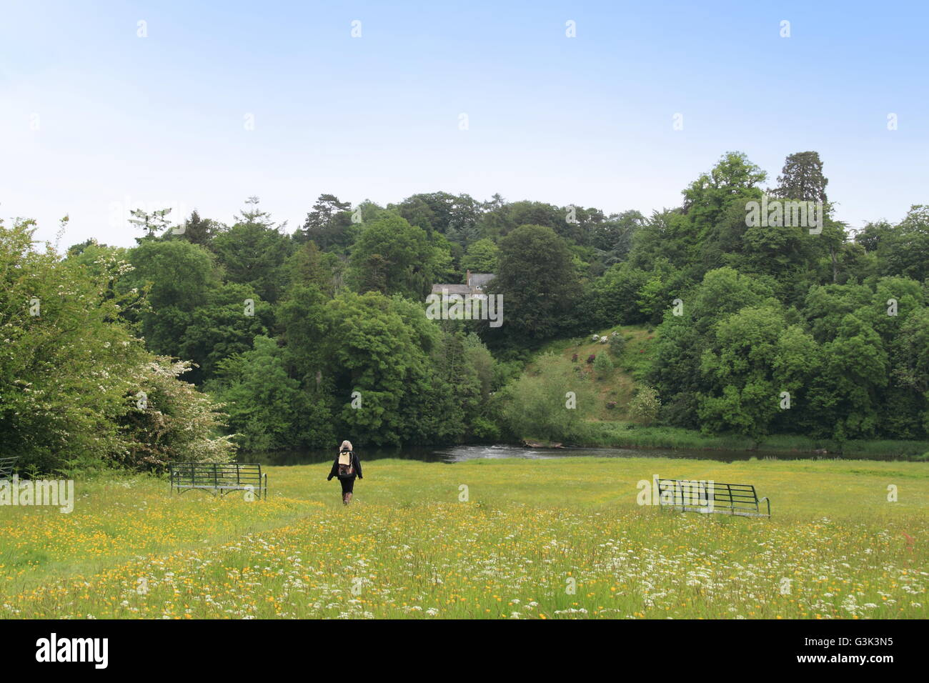 Wyecliff from The Warren, Hay-on-Wye, Powys, Wales, Great Britain, United Kingdom, UK, Europe - Stock Image