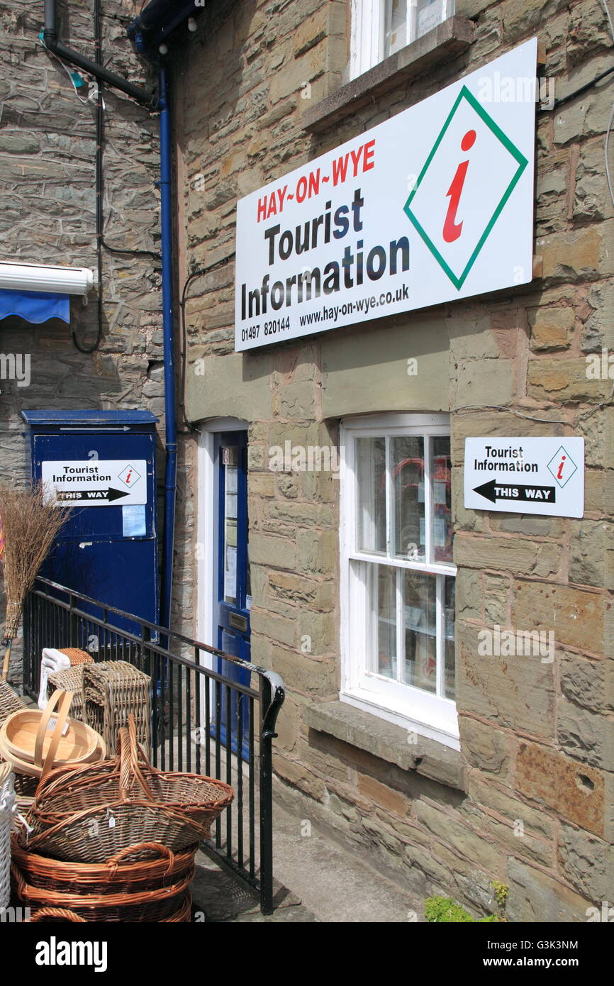 Tourist Information Office, Oxford Road, Hay-on-Wye, Powys, Wales, Great Britain, United Kingdom, UK, Europe - Stock Image