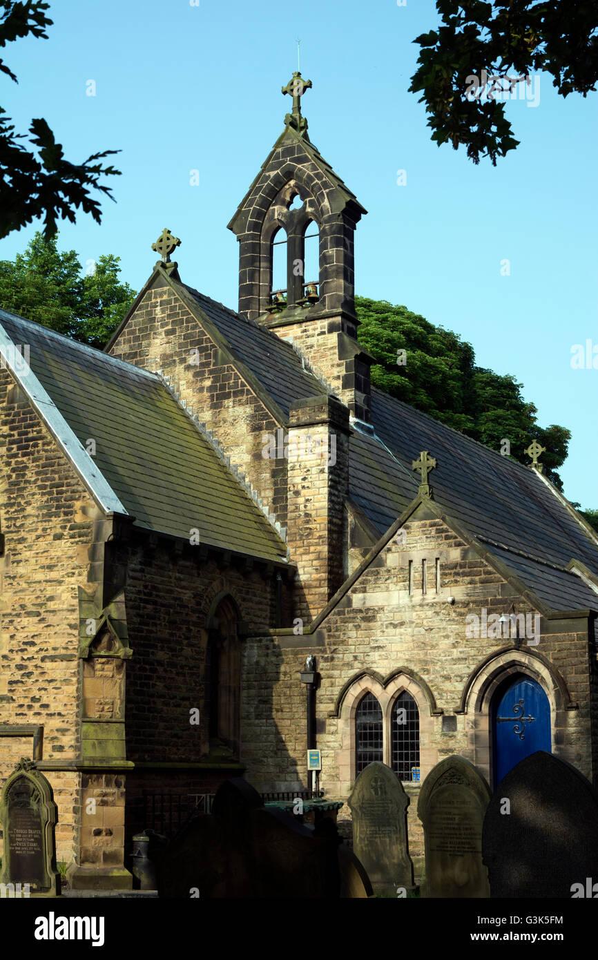 Christ Church, Newburgh, Lancashire, England, UK - Stock Image