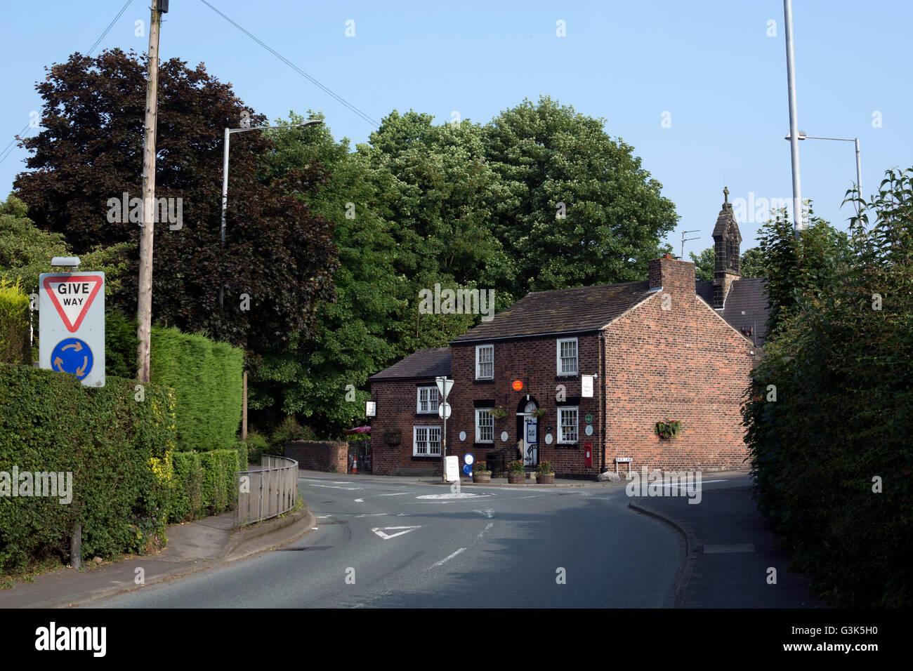 Newburgh village view with post office, Lancashire, England, UK - Stock Image