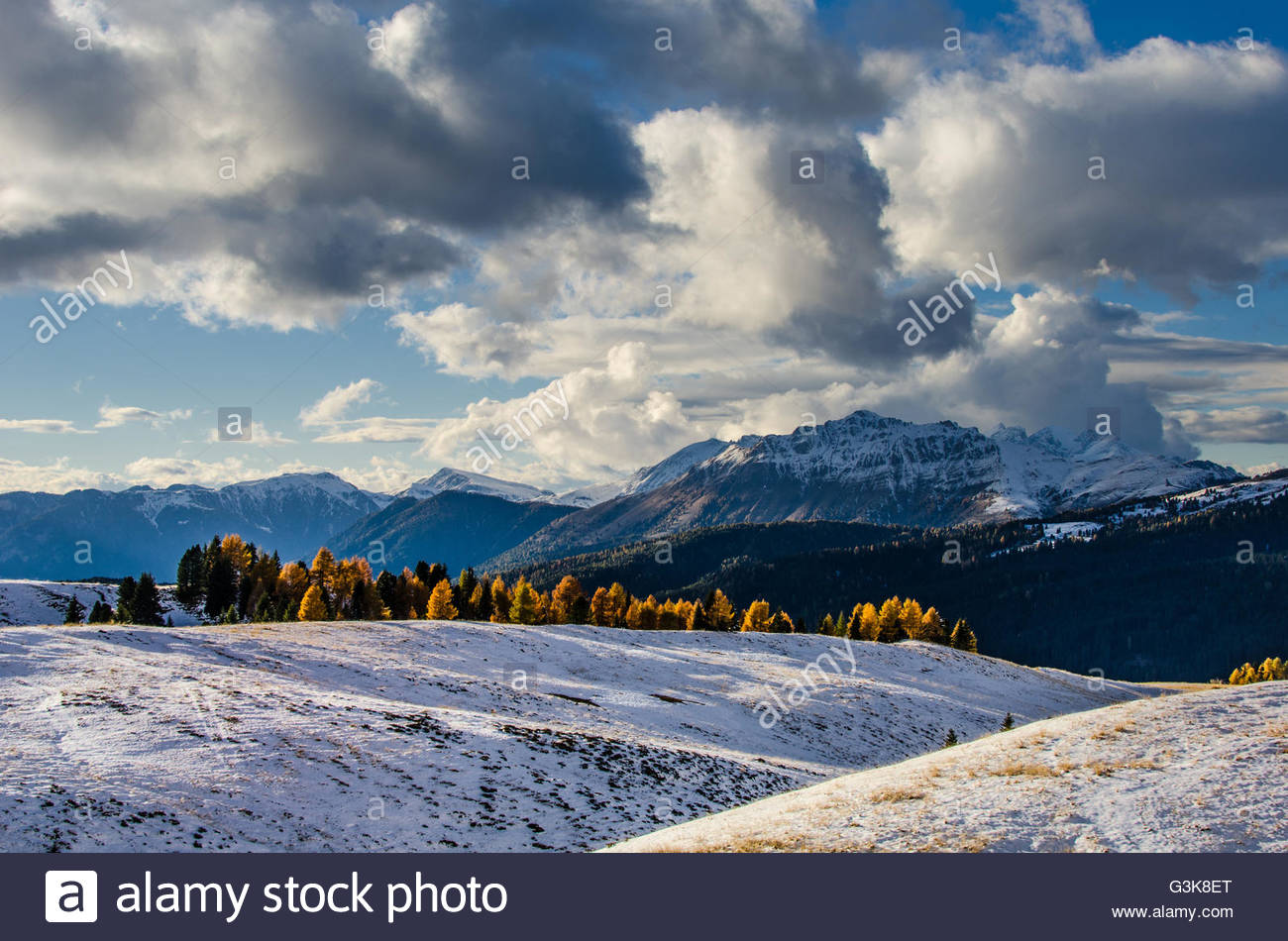 Dolomiti, Passo Rolle Stock Photo