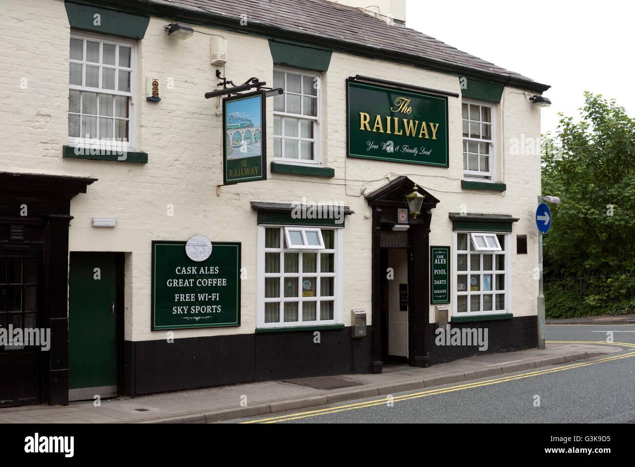 The Railway pub, Ormskirk, Lancashire, England, UK - Stock Image