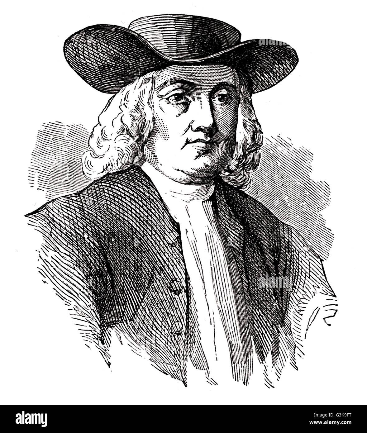 William Penn, 1644 - 1718 Stock Photo