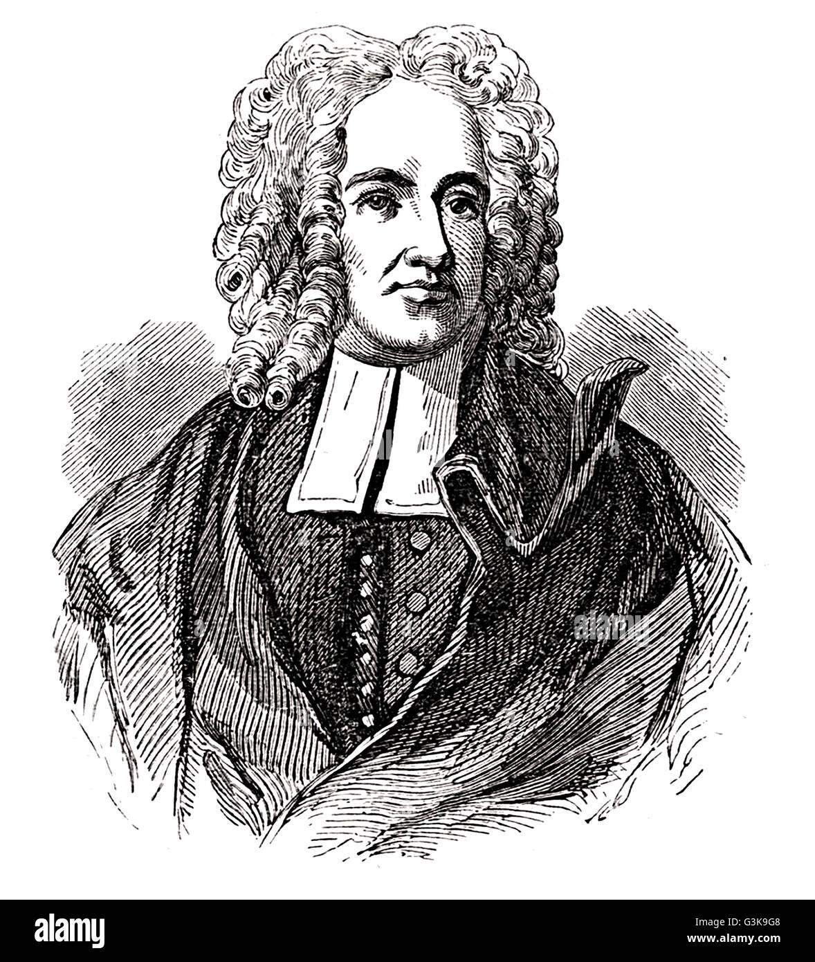 Cotton Mather, 1663 - 1728 Stock Photo