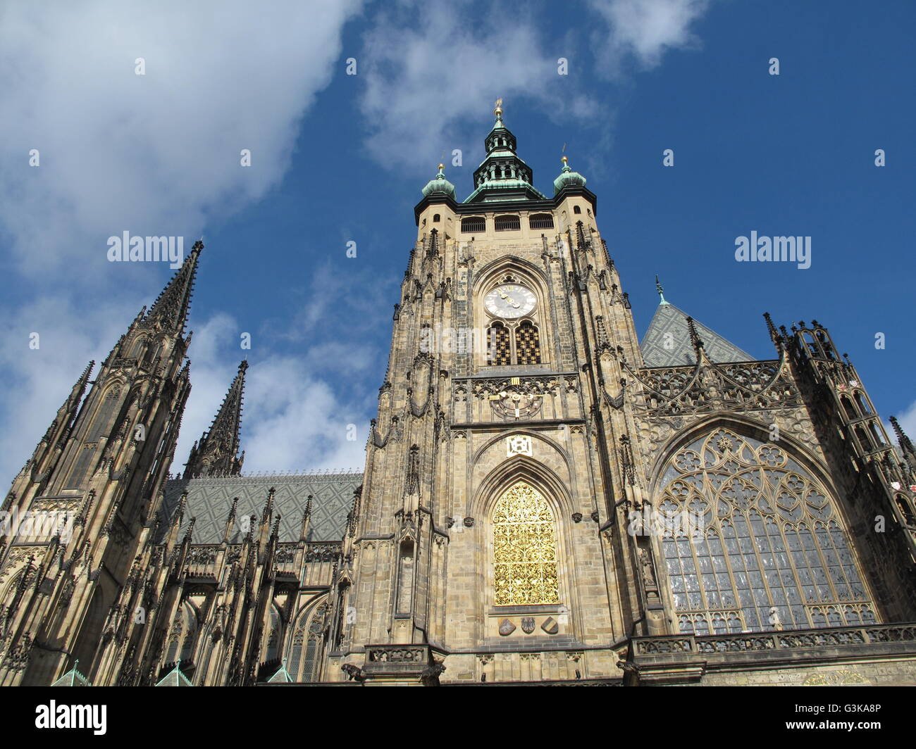 St. Vitus Cathedral, Prague Castle - Stock Image