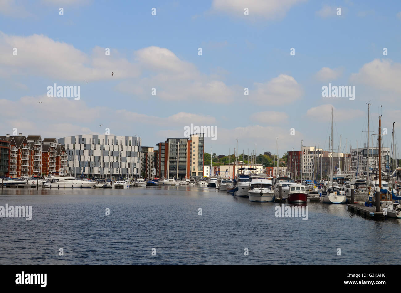 Waterfront, Ipswich docks, Suffolk 2016 - Stock Image