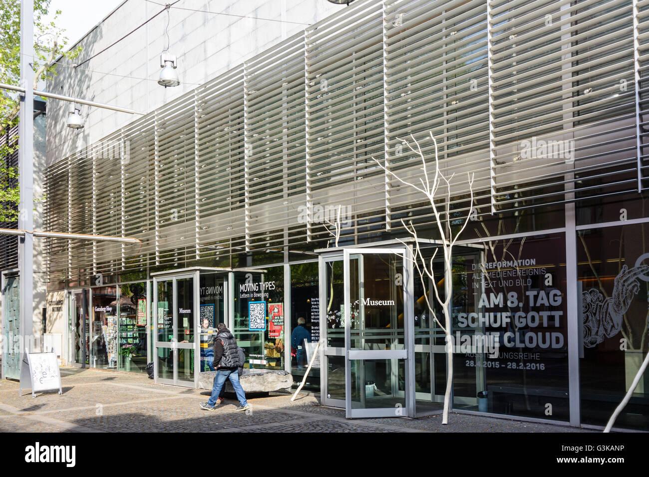 Gutenberg Museum, Germany, Rheinland-Pfalz, Rhineland-Palatinate, , Mainz - Stock Image