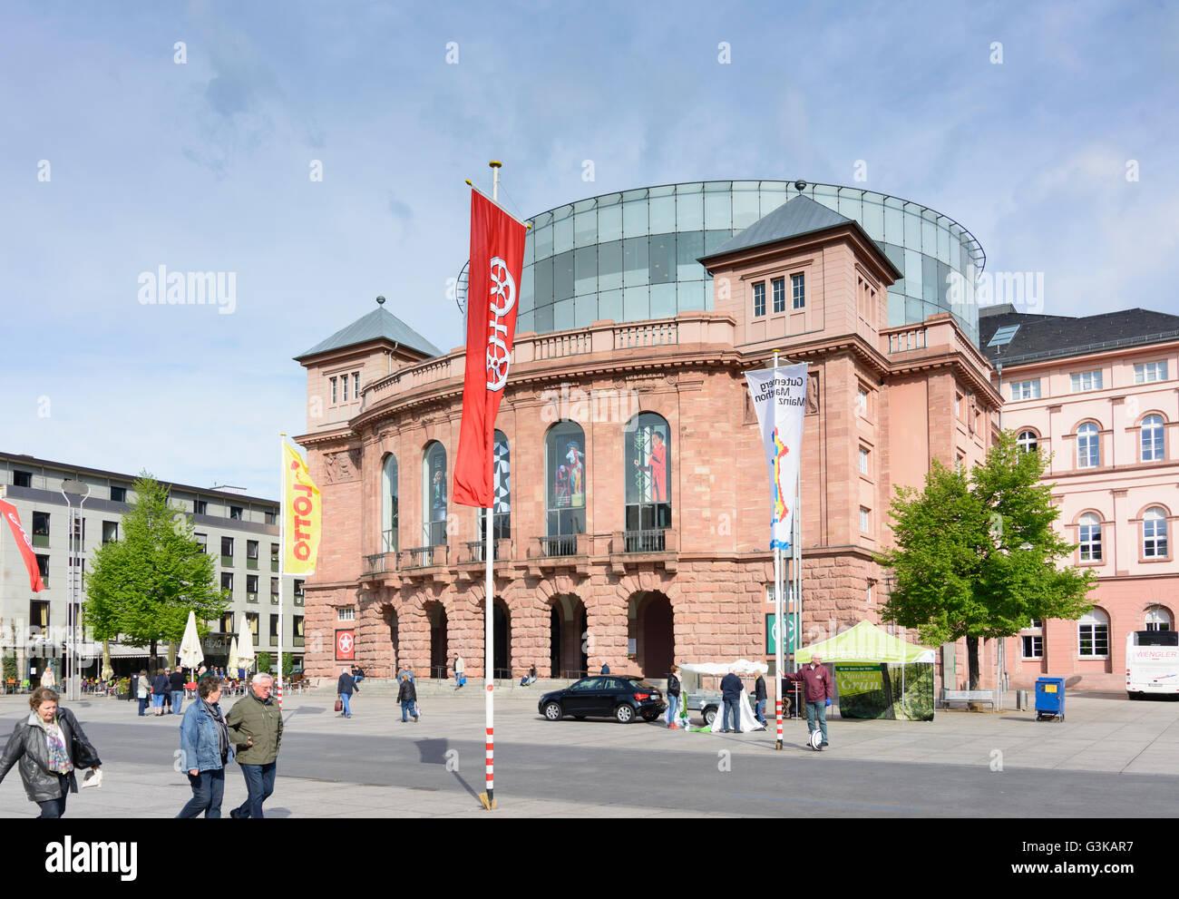 Theatre, Germany, Rheinland-Pfalz, Rhineland-Palatinate, , Mainz - Stock Image