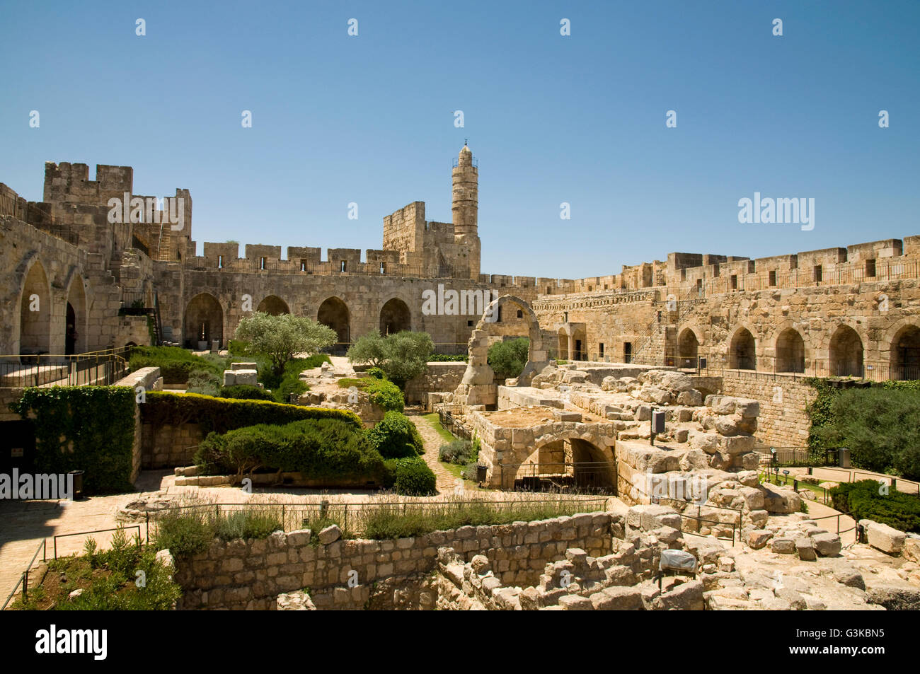 David Fortress and Museum, Jerusalem Stock Photo